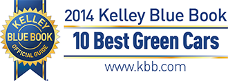 2014 Kelley Blue Book Best Green Car - Winner